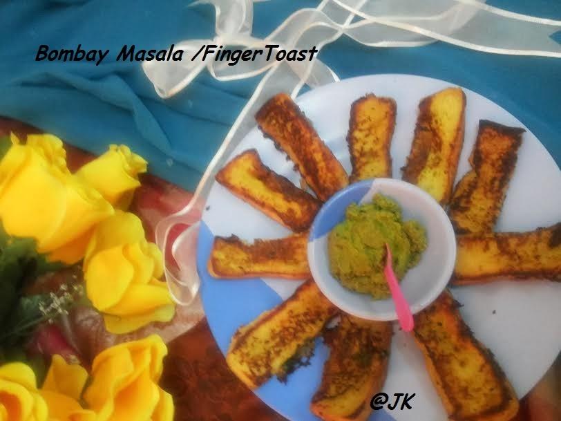 masala finger toast/bombay finger toast