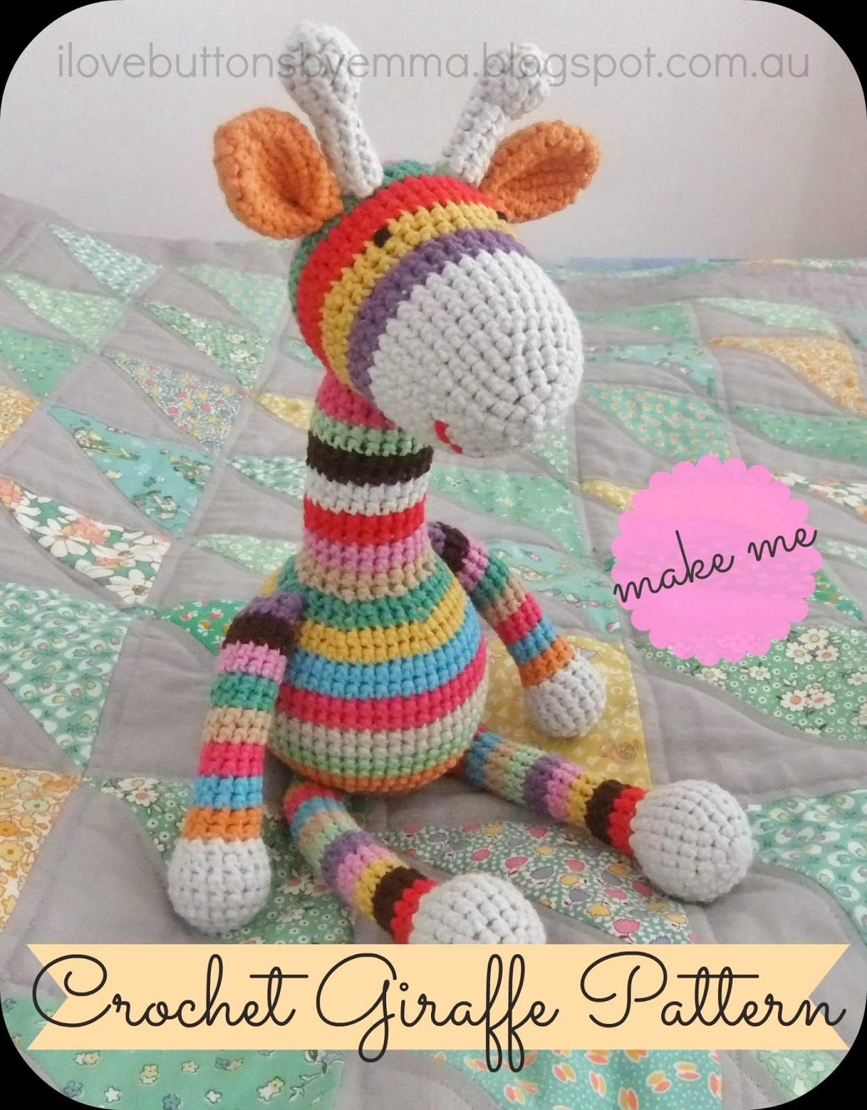 Free Patterns Crochet Stuffed Animals : Romy ?bersetzts - Handarbeit auf deutsch: Gestreifte ...