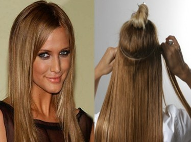 Hair extensions are available in various colors and types. depending ...