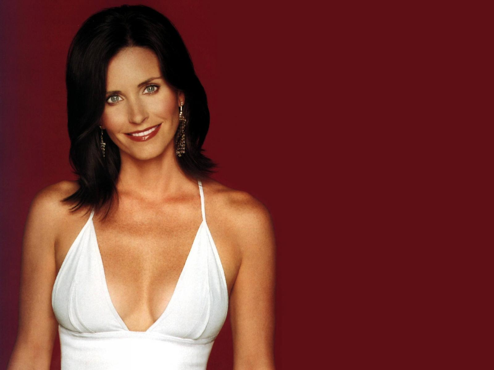 Courteney Cox White Dress