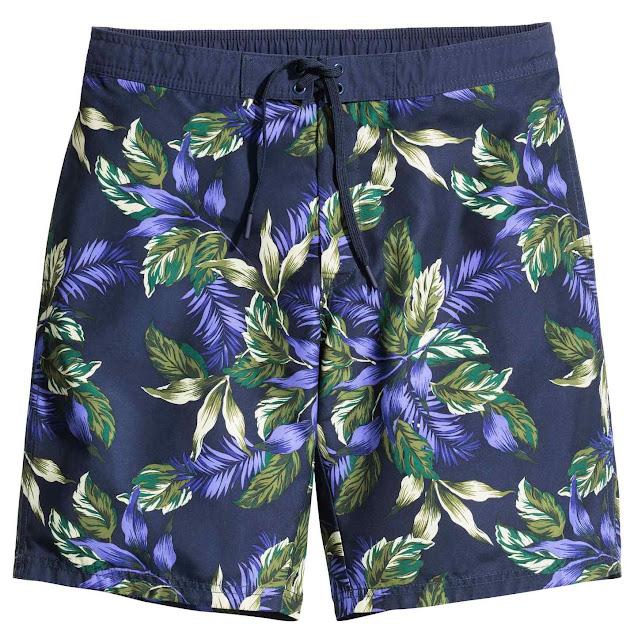 h&m short de bain maillot tropical