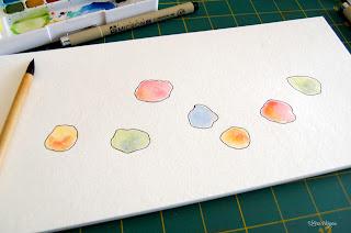 passo a passo com aquarela tema passarinhos