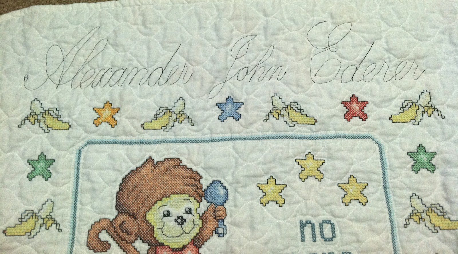 Butterfly Stitches: Baby Blanket and my Traveling Quilt : cross stitch baby quilt - Adamdwight.com