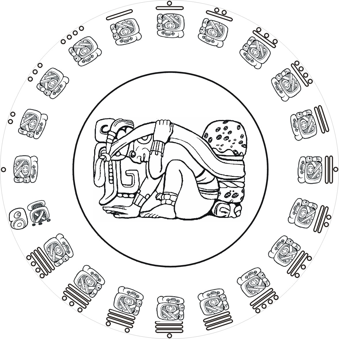 Mayan Calendar Coloring Pages Printable