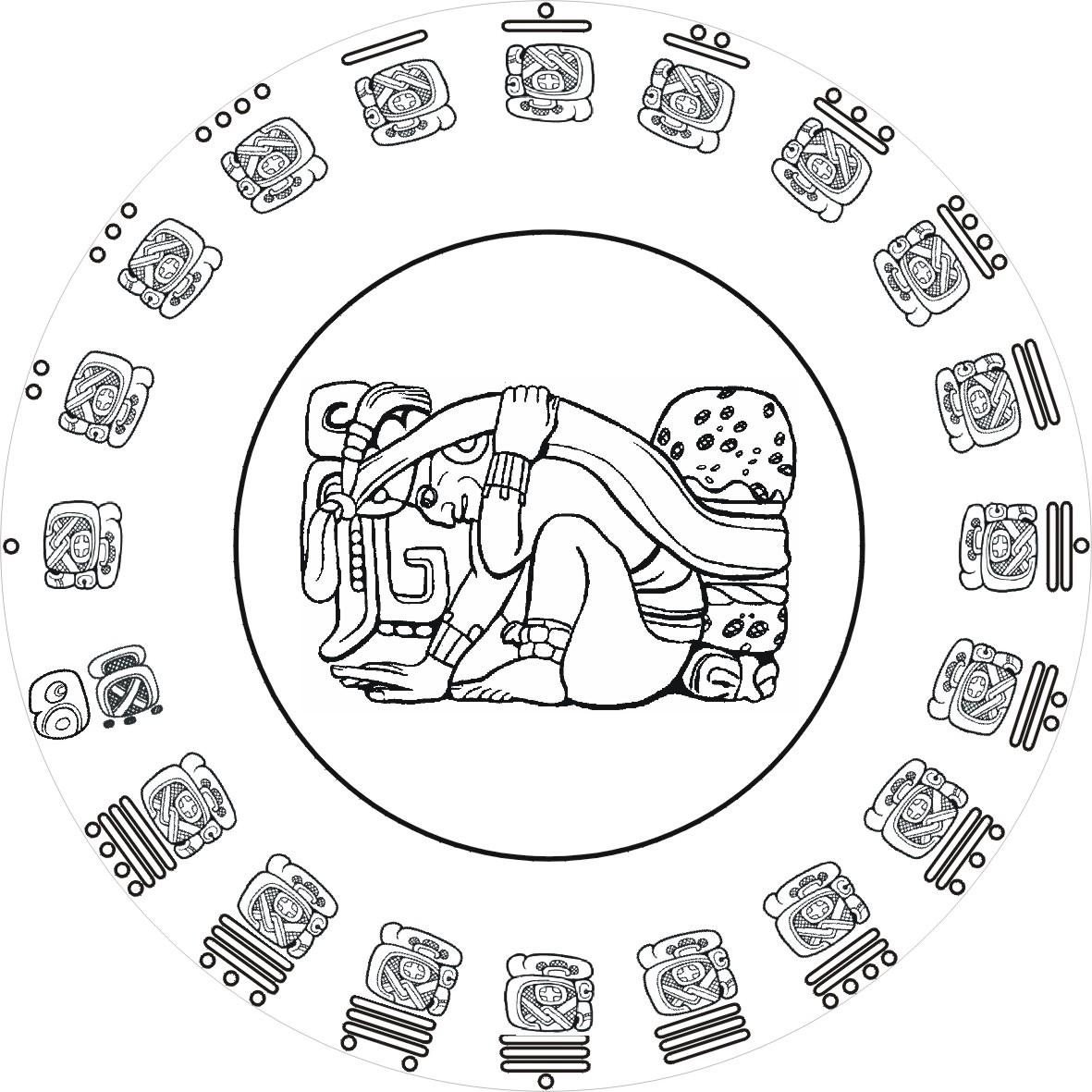 Mayan coloring pages printable