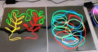Membuat Lukisan Cahaya dengan Electronik Wire di Dinding