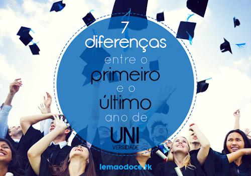 7 diferenças entre o primeiro e o último ano de universidade