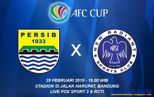 Hasil Pertandingan Persib vs New Radiant AFC Cup 2015