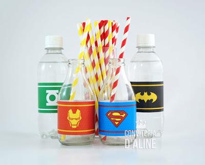 super herois adesivo festa