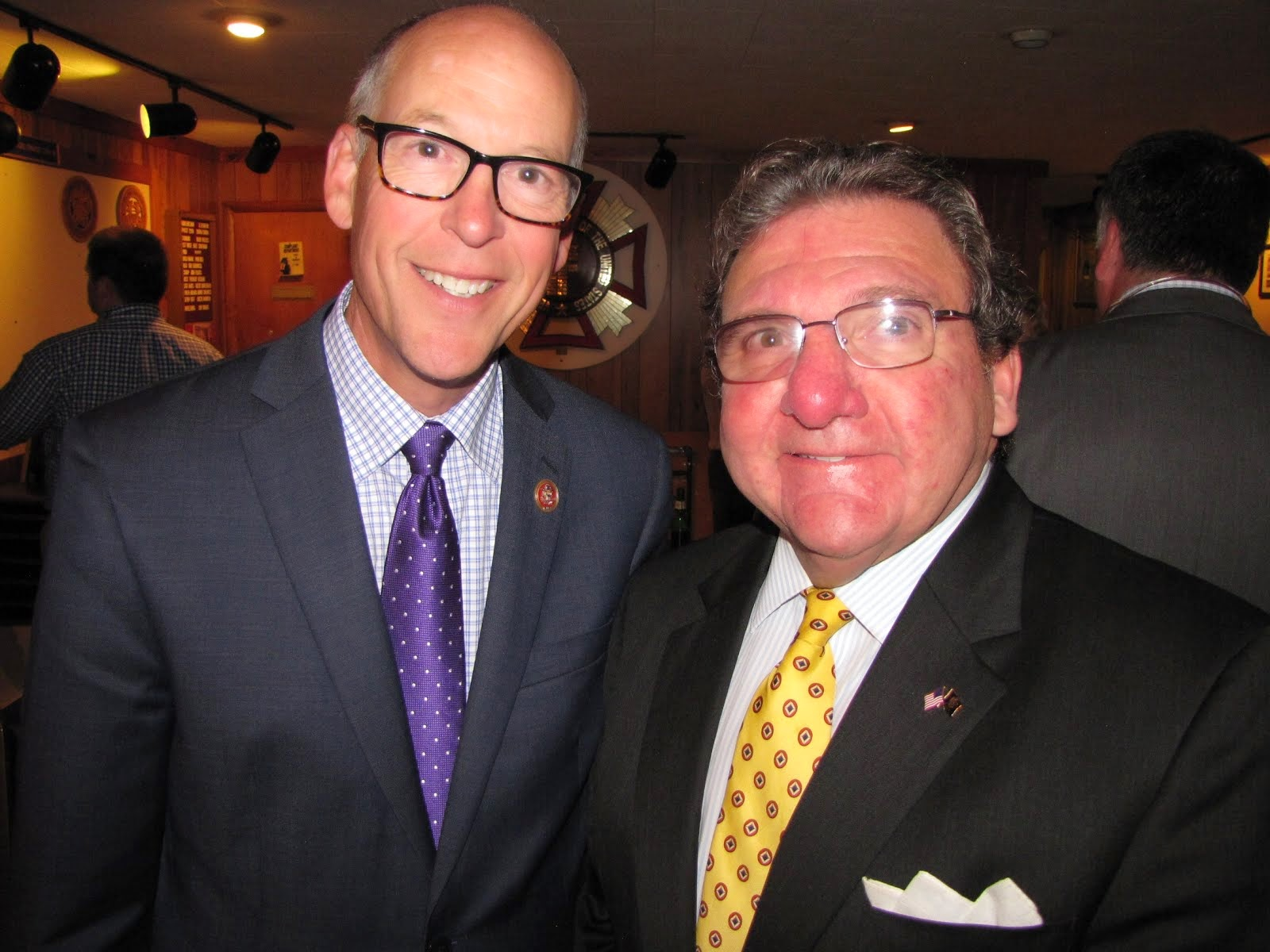 Hizzoner....Mayor Paul Maroun of Tupper Lake With Rep. Greg Walden
