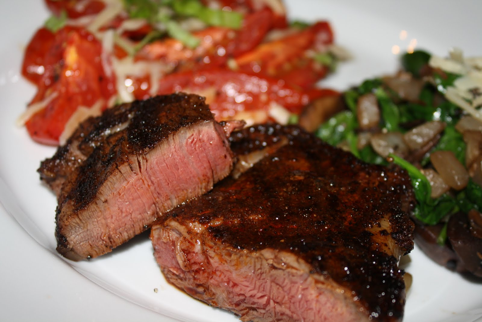 seared cowboy steak s with guinness sauce grilled tender hanger steak ...