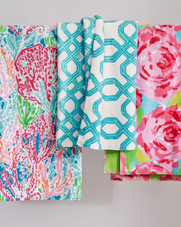 lilly pulitzer garnet hill towels