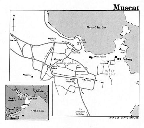 Mapa da cidade de Mascate - Omã