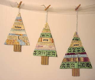 Adornos de Navidad con Papel Reciclado, II Parte
