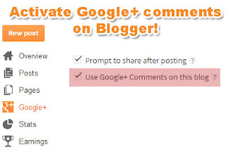 Google+ comments on Blogger