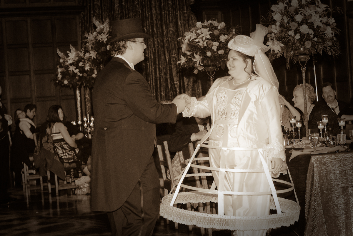 steampunk, wedding, dress, fashion