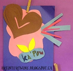 roy lichtenstein for kids paper relief art activity