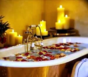 baño relajante otoñal
