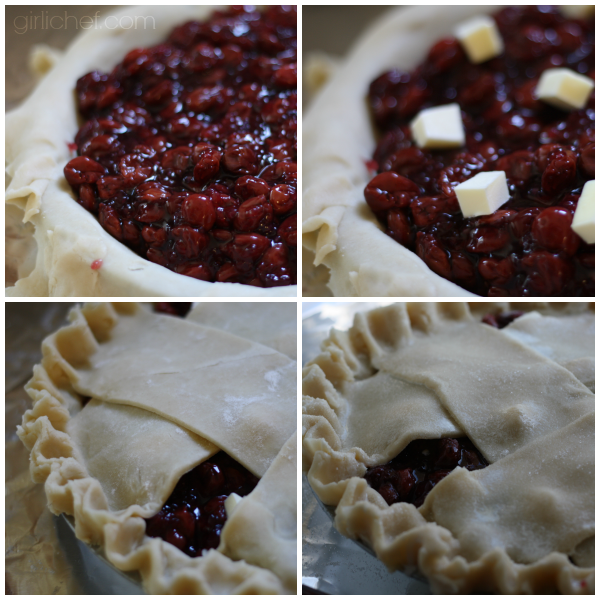 Assembling the Cherry Pinot Noir Pie by @girlichef