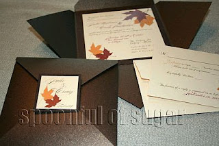 Cards and Wedding Invitations in Brown