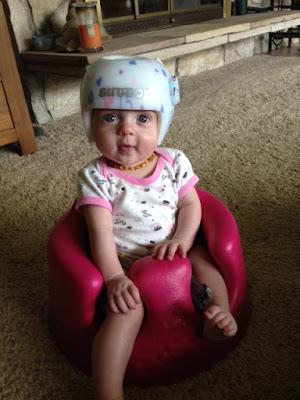 Sutton in her helmet