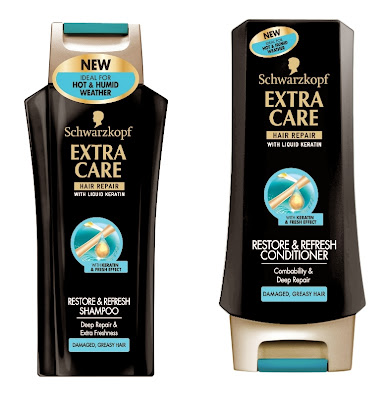 Schwarzkopf Extra Care Restore & Refresh, haircare, shampoo, conditioner, beauty, hair mask
