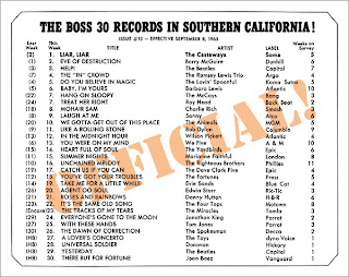 KHJ Boss 30 No. 10 - September 8, 1965