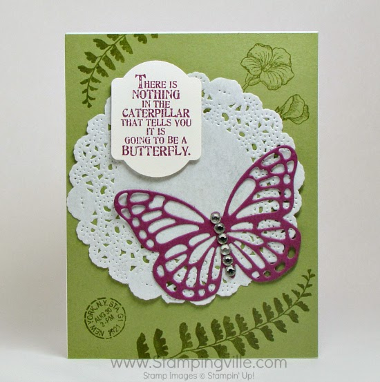 All Occasion card with Butterfly Basics Bundle (stamps + dies). #papercrafts #cardmaking #StampinUp