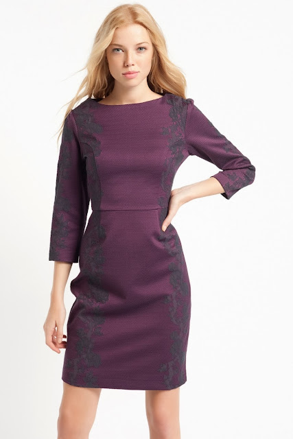 desenli mor elbise, kısa elbise, 2014 elbise modelleri