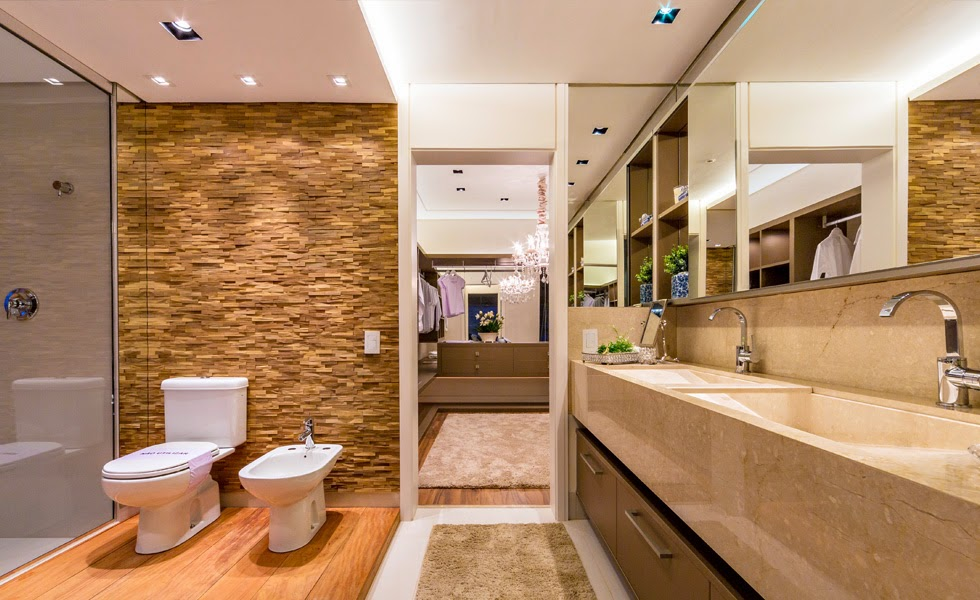 Arquitetando meus sonhos 7 Banheiros de Suíte Charmosos -> Banheiros Decorados Suite