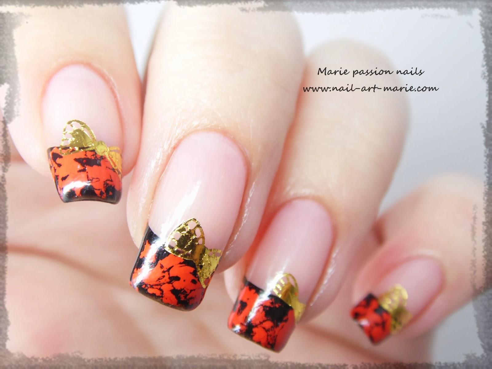 Nail Art avec craquelures de foils matte3