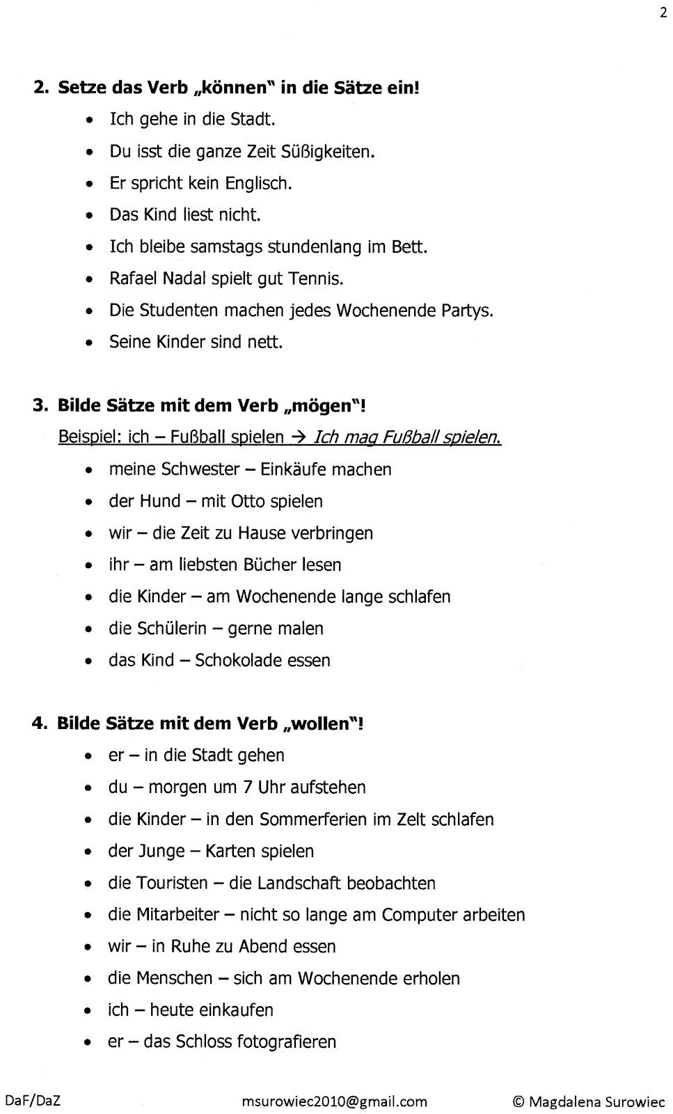 quotaspekte der germanistikquot modalverben konjugation und