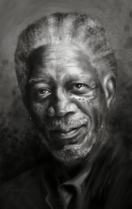Angela Bermudez deviantart pinturas filmes cultura pop cinema Morgan Freeman