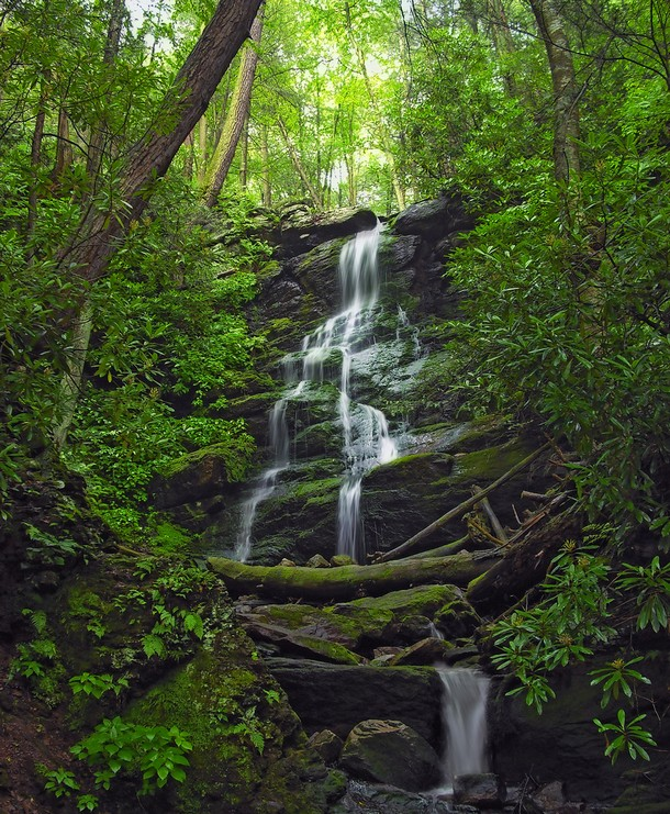New Jersey Silver Spray Falls, Walpack Township, Sussex County
