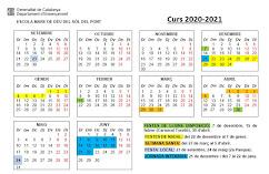 CALENDARI DE CURS 2020-2021