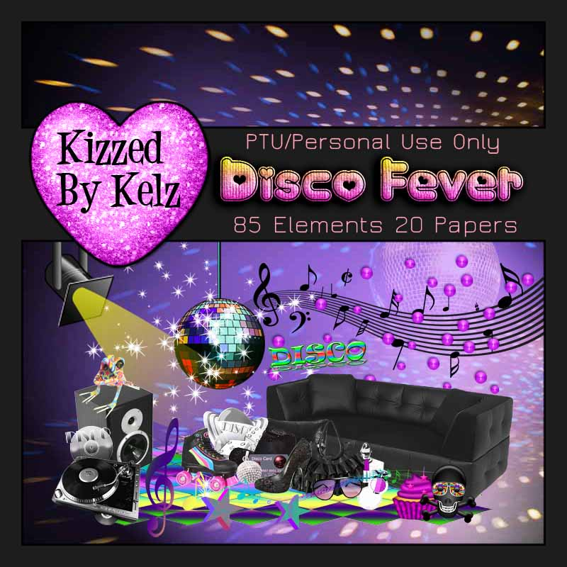 Digi Style Designs Digital Scrapbooking Store New Kit Disco Fever