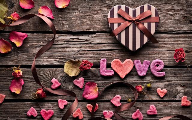 Liefdes hartjes gemaakt van stof