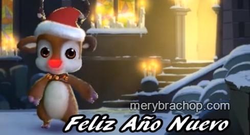 Video de Feliz Año Nuevo por Mery Bracho. Nochevieja, saludos de fin de año, Enero 2016, Tarjeta con mensaje cristiano corto de feliz año. Frases en video Youtube para enviar a amigos y familia.