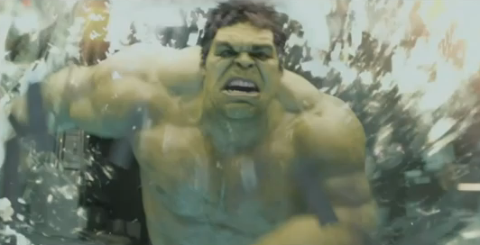 The Avengers 2012 Super Bowl Spot Extended Movie Trailer Mark Ruffalo's Hulk Rampage