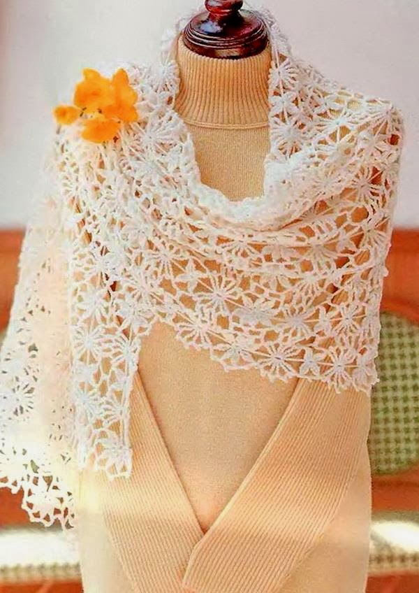 Crochet Shawl Wrap Pattern - Gorgeous Crochet Lace
