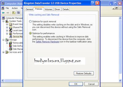 Cara Merubah/Mengganti Format Flashdisk FAT32/FAT Menjadi NTFS Di Windows XP
