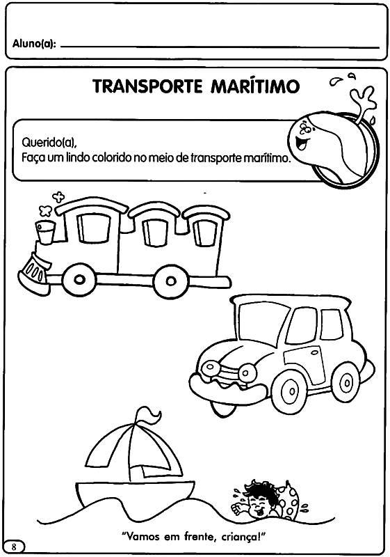 Conhecido Atividades sobre Trânsito - Mundinho da Criança SI12