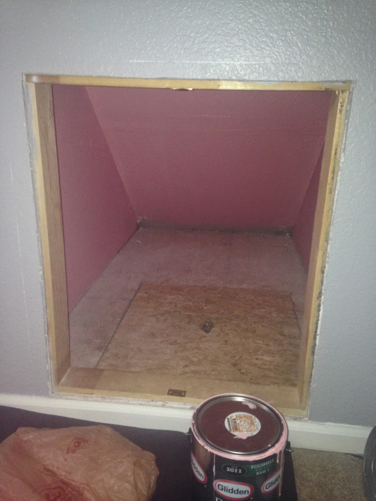 how to make a DIY under the stairs dog house www.thebrighterwriter.blogspot.com