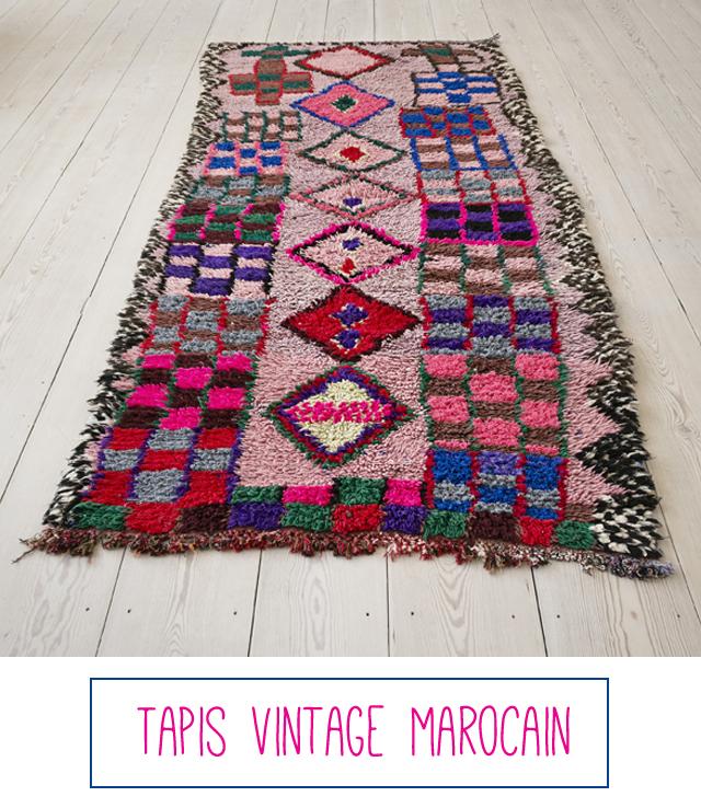tapis fluo marocain