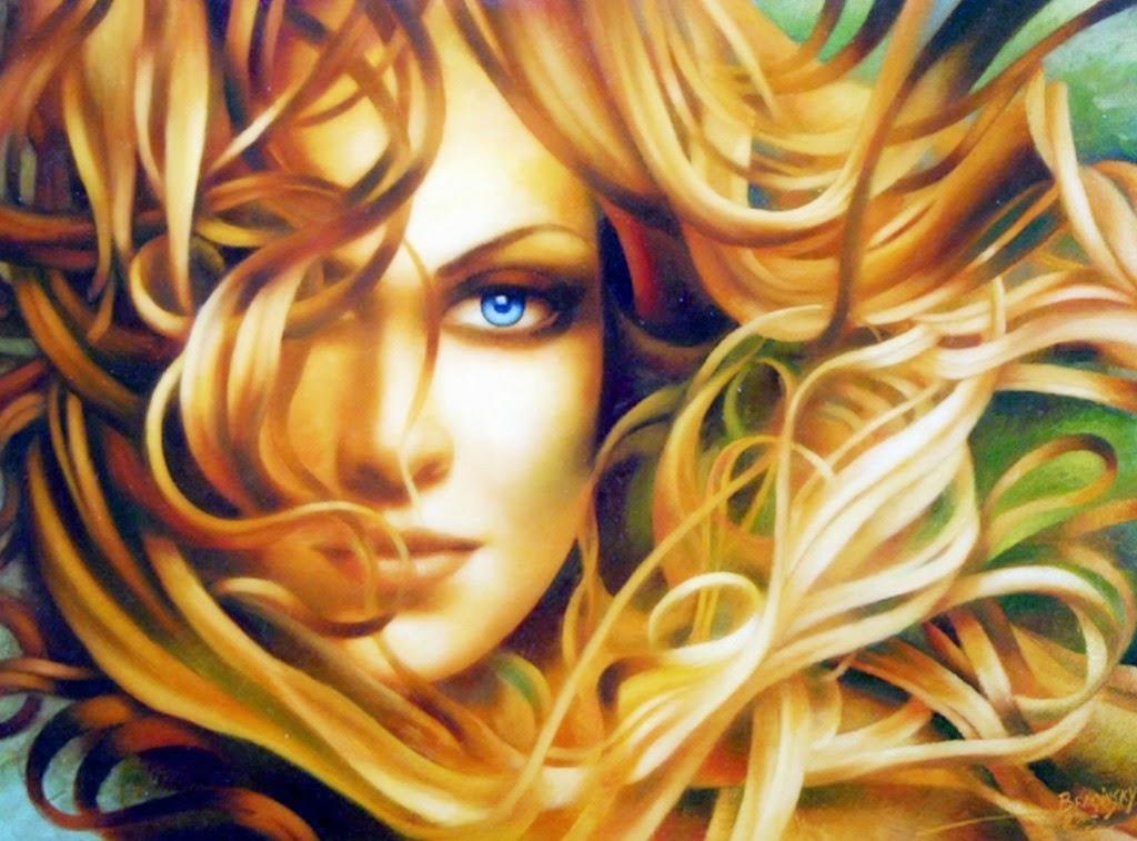 Pinturas de Mujeres y Caballos