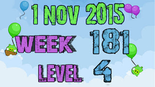 Angry Birds Friends Tournament level 4 Week 181