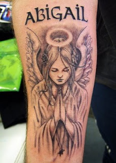 angel tattoos, tattooing