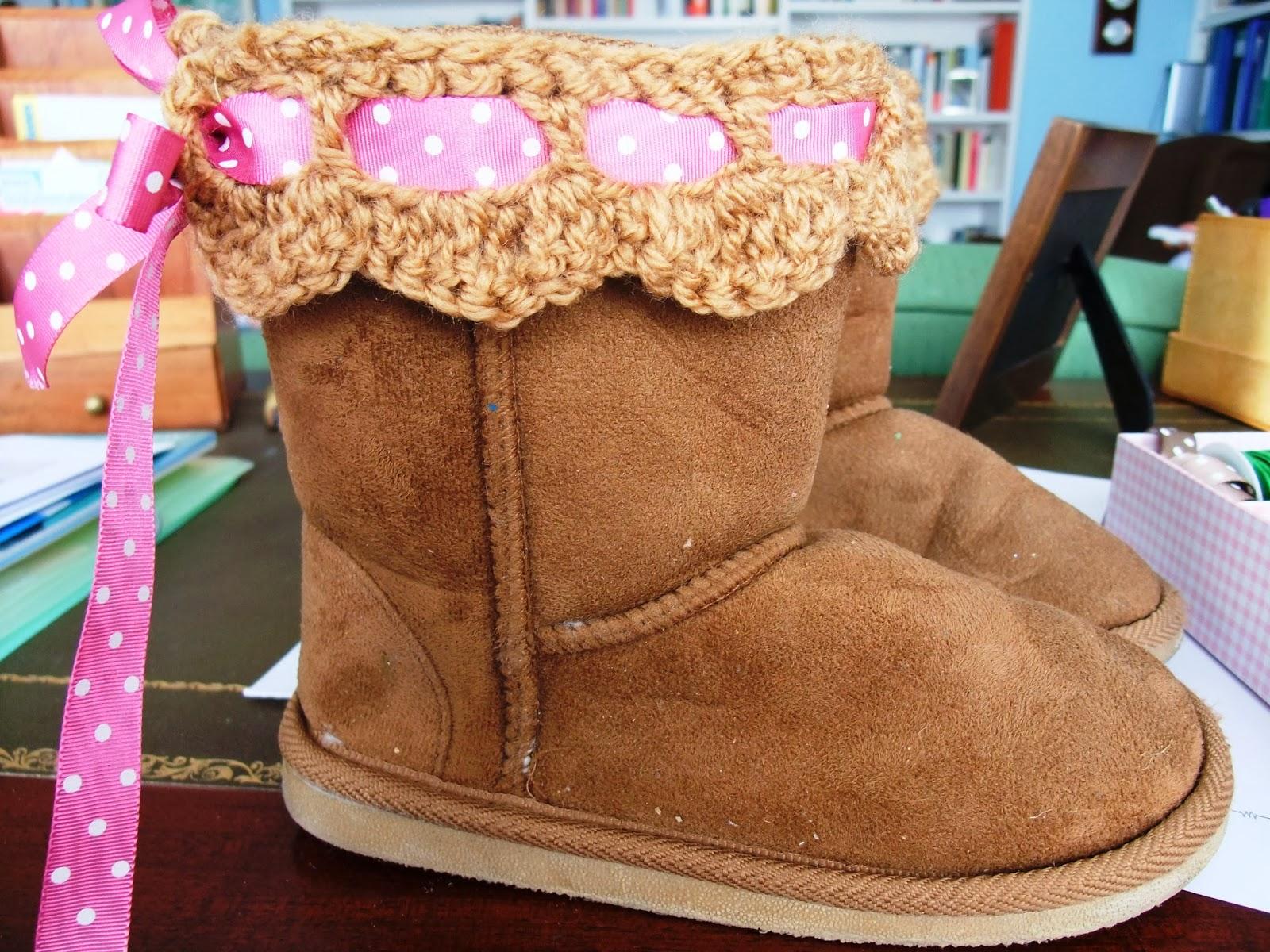 Mil cosas monas como dar un toque chic a unas botas de - Ideas para decorar zapatos de nina ...