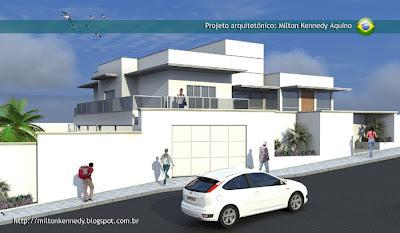 Projeto de uma casa contemporânea - Milton Kennedy