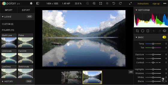 foto editor polarr v 2.0